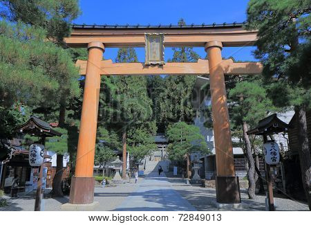 Shrine gate Takayama Japan