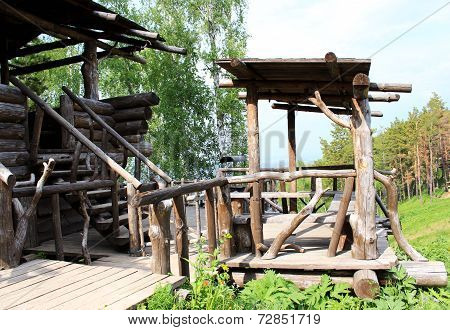 Wooden Gazebo in beaver ravine