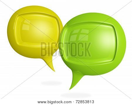 Discussion Chat 3D Speech Bubbles