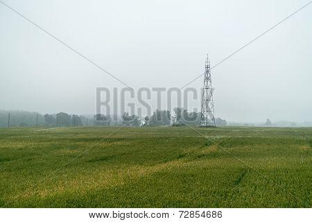 Watch Tower In The Misty Field