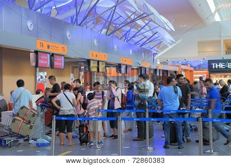 Check in counter KLIA2 airport