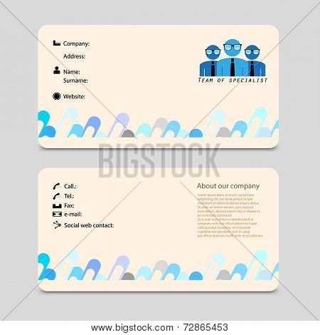 advertising business card vector