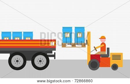 Dangerous goods background vector