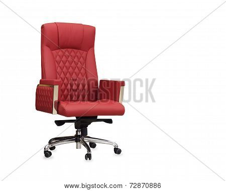 The Office Chair From Red Leather