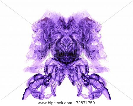 Purple Artistic Smoke On White Background