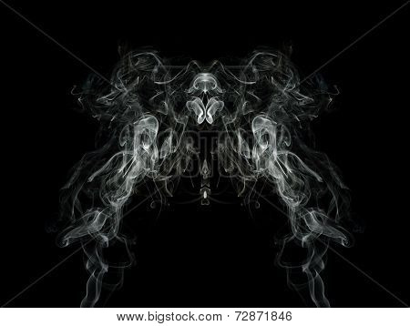 Artistic Smoke On Black Background