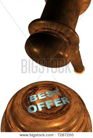 Gavel with BEST OFFER