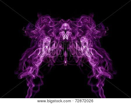 Purple Smoke Pattern On Black Background