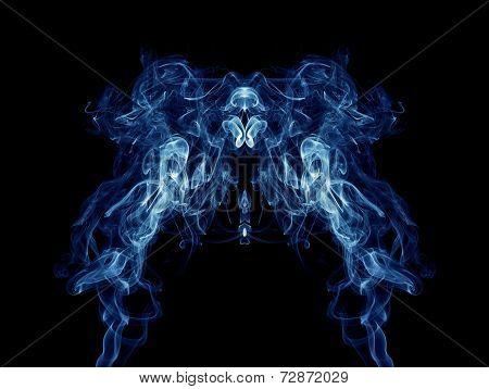Blue Smoke Pattern On Black Background