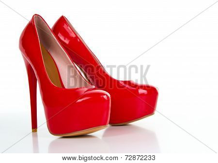 Red High Heel Women Shoe