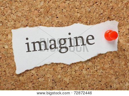 The word Imagine