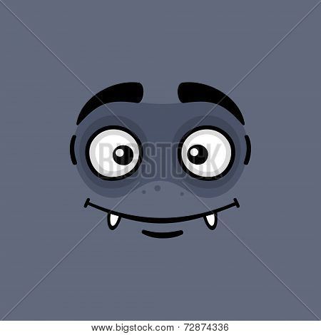 Cartoon Expression Monster Face. Vector