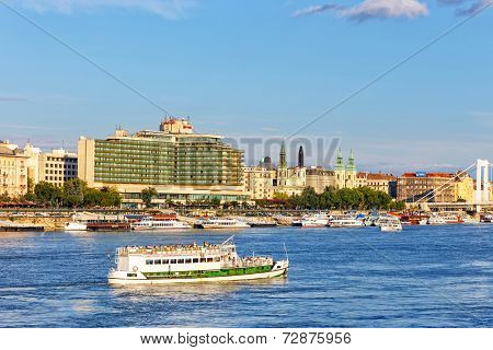Hungary, Budapest- July 23: A View To Budapest On July 23, 2014. Budapest Is One Of The Most Visited