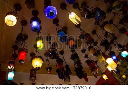 Colorful turkish lamp