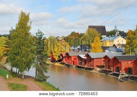 Finland. Autumn In  Porvoo