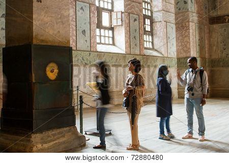People inside Hagia Sophia