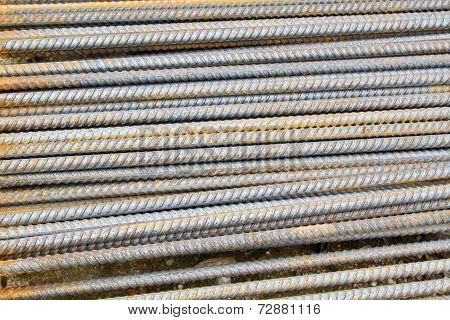 rusty grunge steel rods