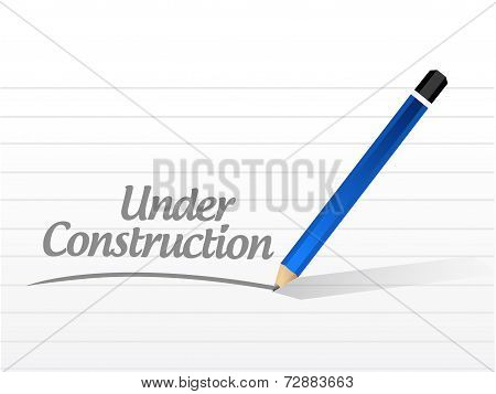 Under Construction Message Illustration Design