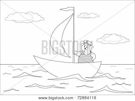 Teddy bear seaman, contours