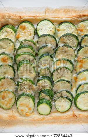 Zucchini tarte with fresh herbs