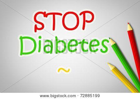 Stop Diabetes Concept