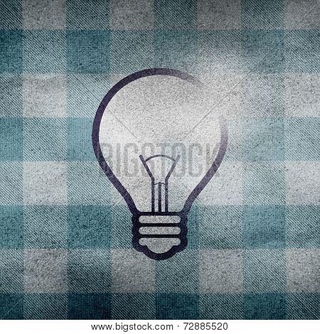 Bulb Symbol On Dirty Plaid