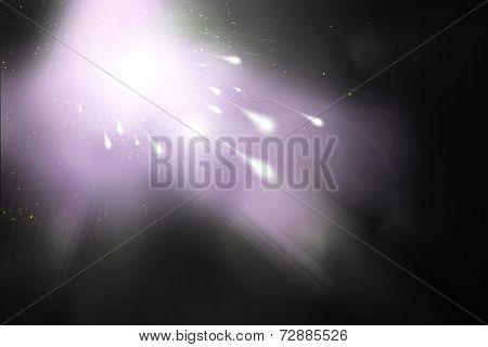 Comet And Violet Sky