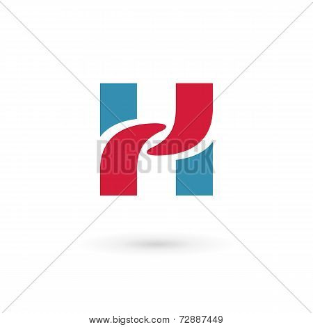Letter H logo icon design template elements. Vector color sign.