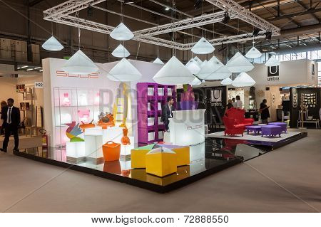 Slide Stand At Homi, Home International Show In Milan, Italy