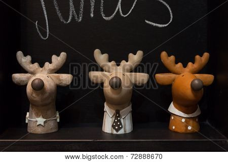 Reindeers On Display At Homi, Home International Show In Milan, Italy