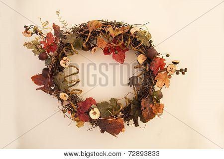 Classic Fall Leaves Wreath