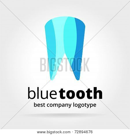 Abstract vector dental tooth logotype concept isolated on white background
