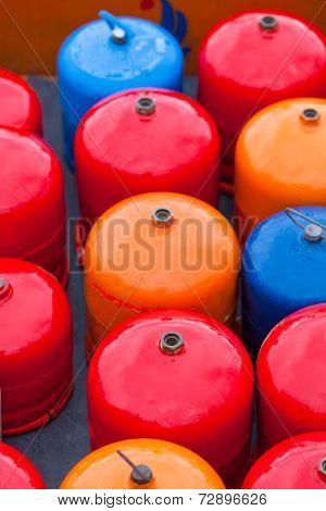 Bright Metal Gas Bottles