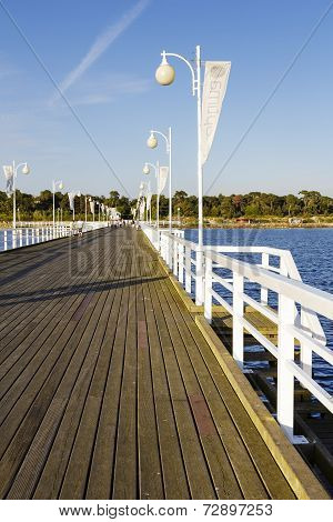 Pier Made Of Wood In Jurata In Poland