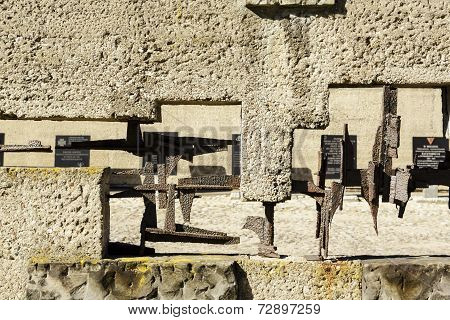 The Detail Of Fence Of Pawiak Prison Museum