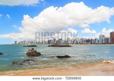 Beach Praia Da Costa,  Sea, Vila Velha, Espirito Sando, Brazil