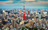 stock photo of kanto  - Tokyo city view visible on the horizon - JPG