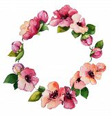 picture of floral bouquet  - hand painted watercolor wreath - JPG
