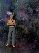 Man With Galaxy Mind