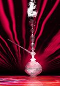 foto of shisha  - Digital 3D Illustration of a Shisha with Smoke - JPG