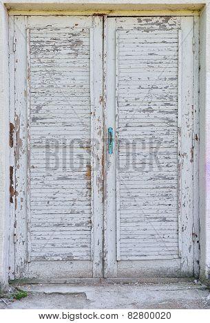Old Paint On Wooden Door