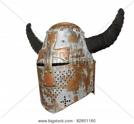 Knight's Helmet With Horns