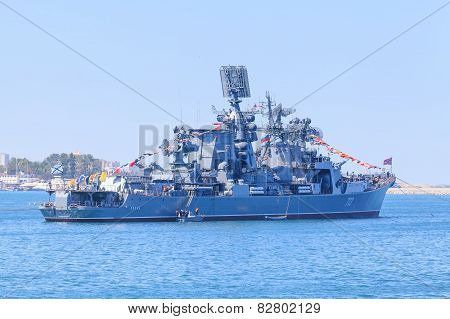 Cruiser of Russian Navy Black Sea Fleet