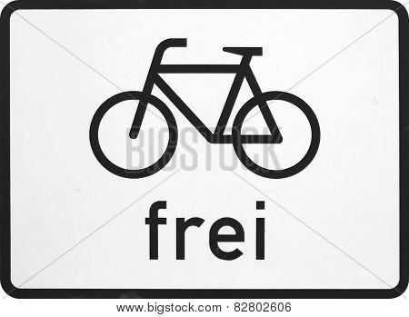 Fahrradfahrer Frei