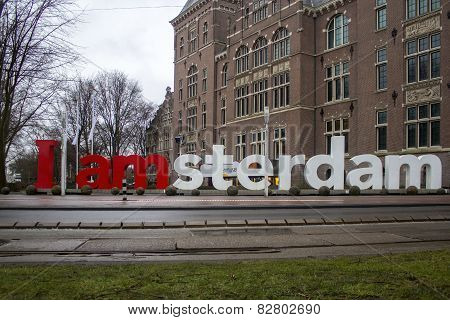 I Amsterdam Welcome City Sign In The Tropenmuseum