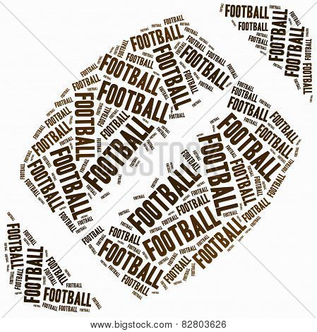 Word Cloud Illustration Related To American Football.