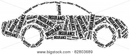 Car Insurance. Word Cloud Illustration.