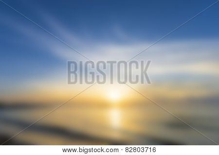 blurry sea landscape for background