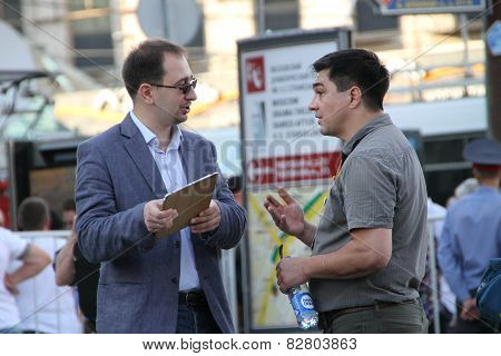 Lawyer Nikolay Polozov And Human Rights Activist Sergey Davidis
