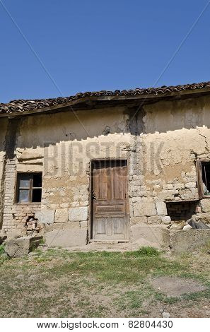 Old Dilapidated House Near The Village Katselovo
